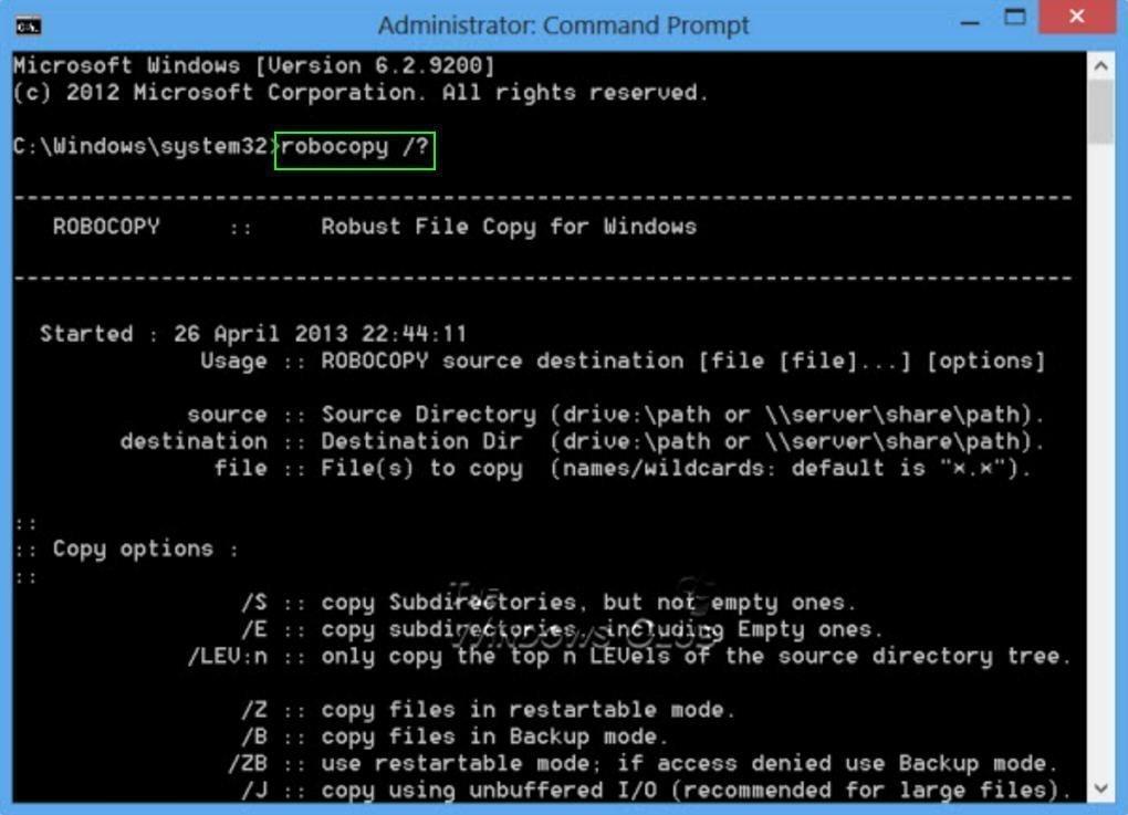 How to Backup Files from Command Prompt Windows 10