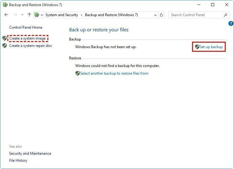 how to set auto backups on your laptop windows 10