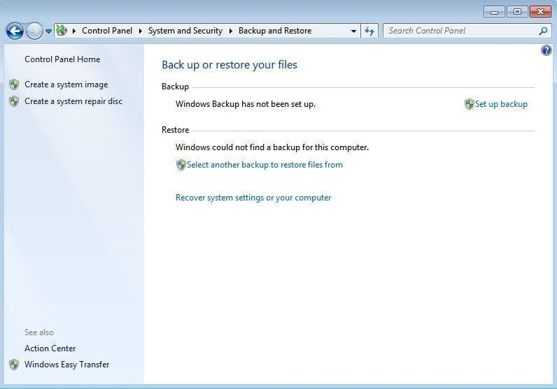 how to make a disc restore on windows 10