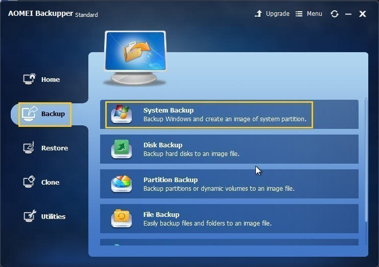 Backup Windows 10 PC to Synology NAS with AOMEI Backupper
