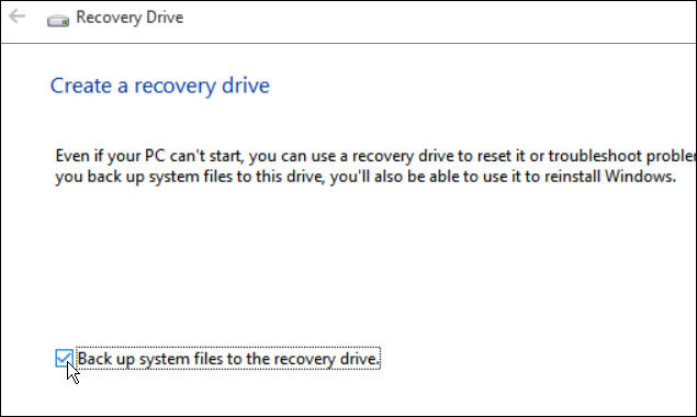 Backup System Files