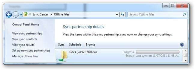 Sync with Sync Center Min