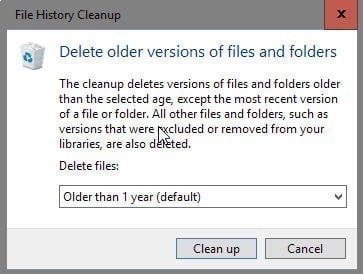 File History Cleanup