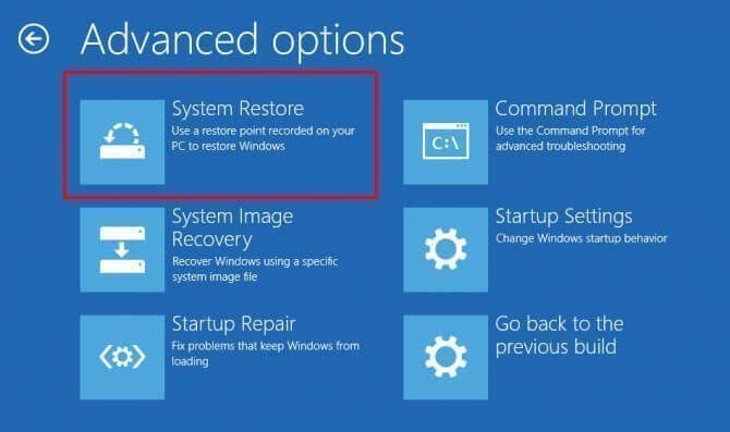 how to recover windows 10 through usb