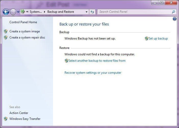 Setup Backup Windows 10