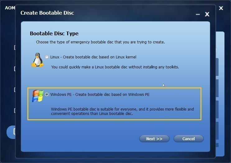 Bootable Disc Type