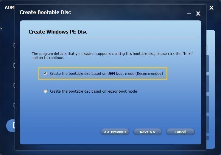 Create Windows PE Disc
