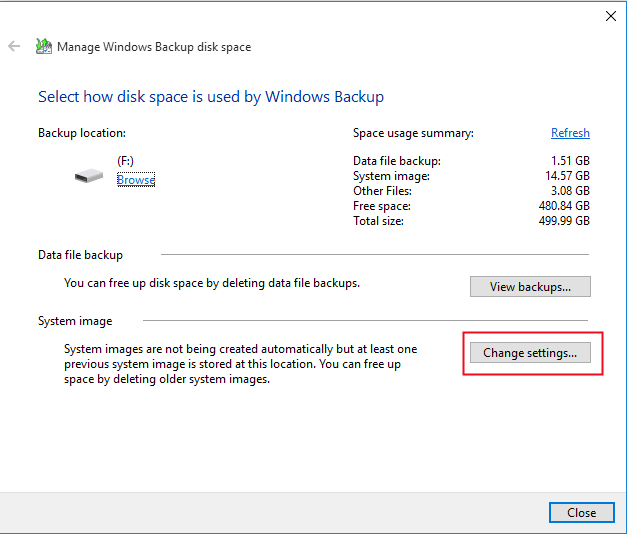 windows 10 how to delete windows backup files