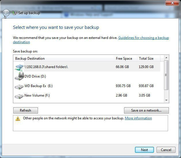 Top Three Ways to Automatic Backup Windows 7 to Network Drive