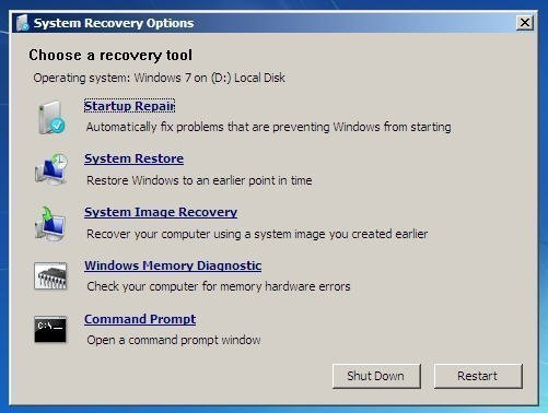 windows 7 recovery boot disk free download