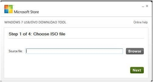 Choose ISO File