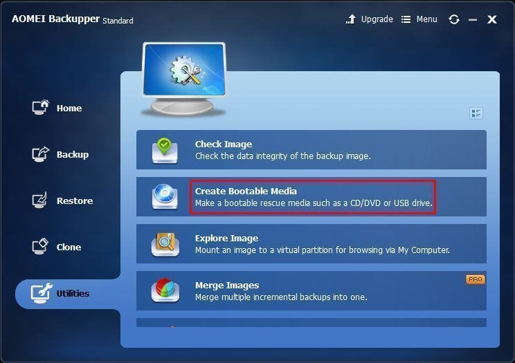 how to create a rescue disk for windows 7 on usb