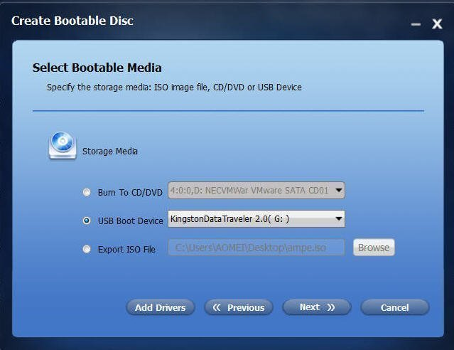 Choose USB Boot Device