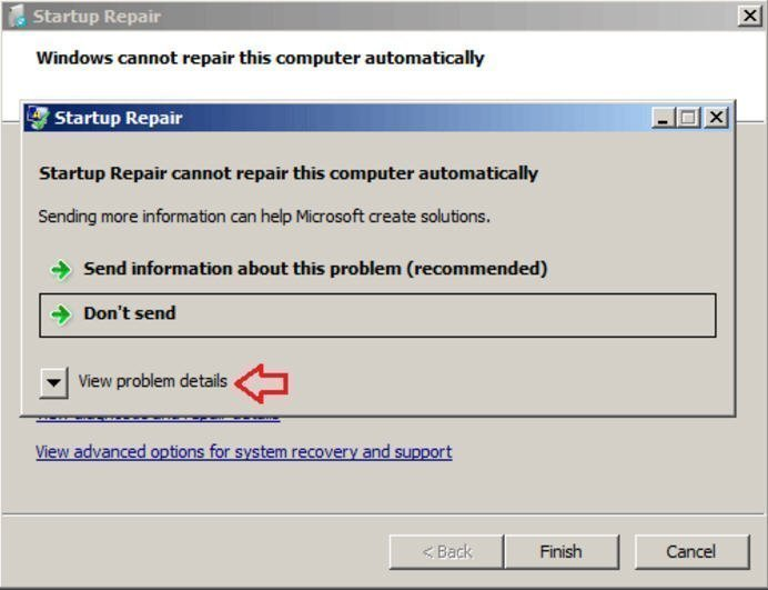 Windows Cannot Repair This Computer Automatically