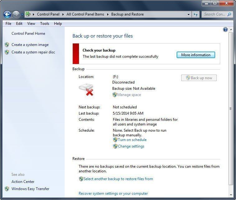 Windows 7 Backup and Restore - A Brief Review