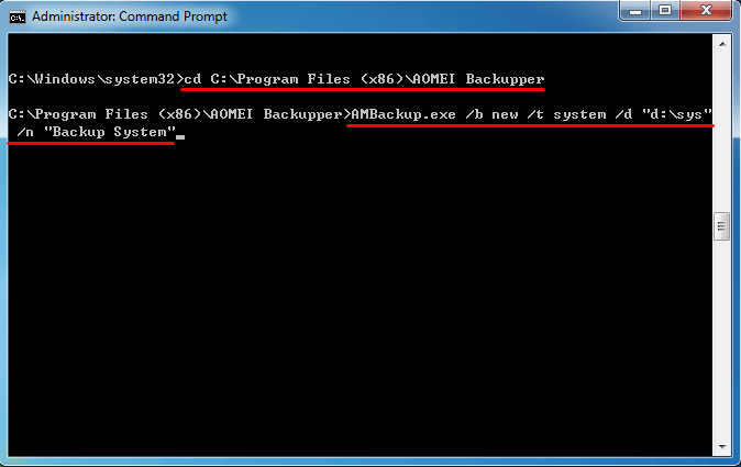 windows 7 cmd commands administrator