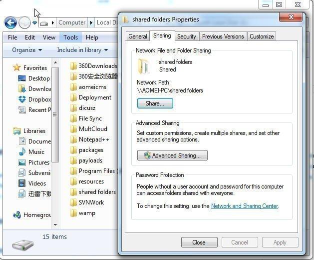 Create Shared Folder