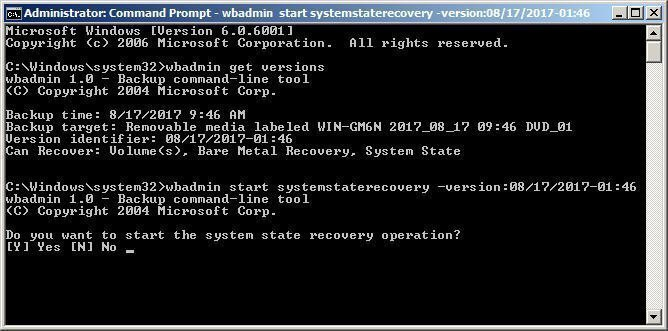 System State Recovery