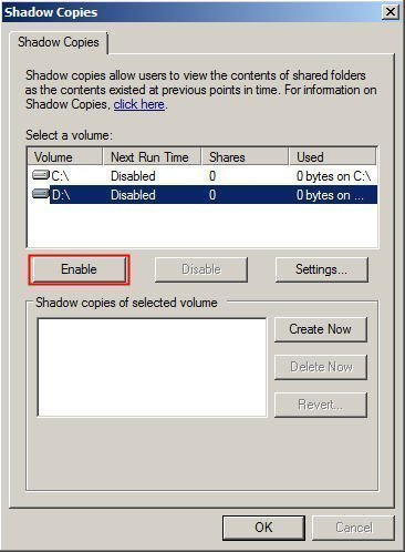 How to Use Shadow Copy in Windows Server 2012?