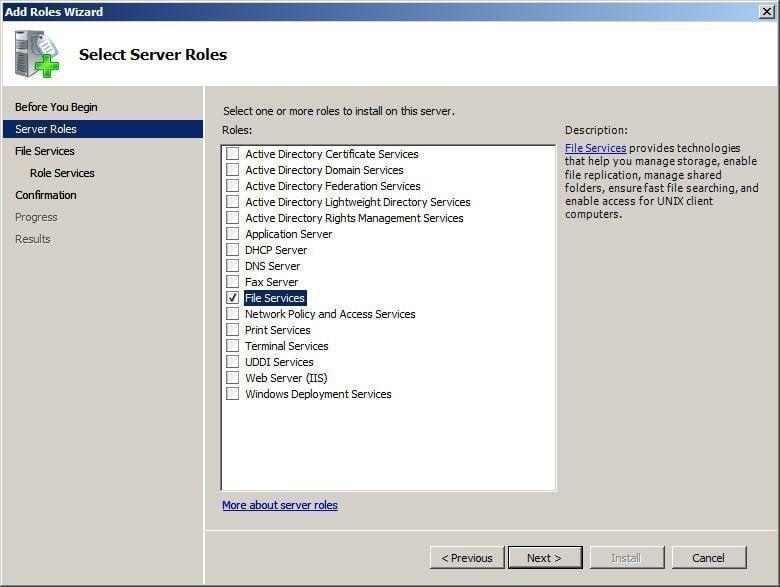 Choose File Services