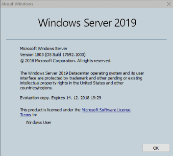 Microsoft Win Server 2019